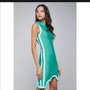 Bebe scallop bandage dress Turquoise Green NWT